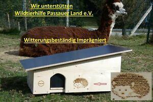 Luxus XXXL Igelhaus Igelhotel wetterfest Labyrintheingang easytouch-Rattenklappe