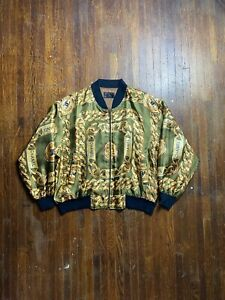 80s 90s vintage Chanel chain Bomber Jacket