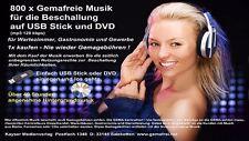 800x gemafreie Musik (40 Stunden) für die Beschallung auf USB Stick und DVD