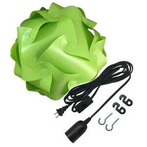 Bzwoyk MED Ceiling Pendant IQ Jigsaw Puzzle Lamp Shade Kit 15 Feet Black Hanging