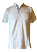 Polo Maglia T-shirt Manica Corta Uomo 100%Cotone CESARE PACIOTTI Bianca Blu Tg S