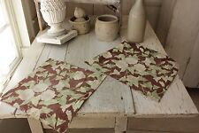Small Floral Pillow Cases 2 Antique French Fabric Arts & Crafts morning glories