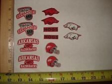 12 Arkansas Razorbacks Fabric Applique Iron On Ons