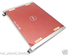 NEW Genuine Dell XPS M1330 LCD Red Back Top Cover Lid Plastics + Hinges XK075