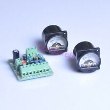 VU meter Driver Board + 2pcs VU Meter Warm Back Light 35x35mm 500μA 0dB=1.288V