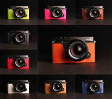 Genuine Real Leather Half Camera Case Bag for FUJIFILM XE1 XE2 XE2S 10 colors