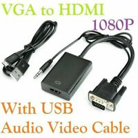 VGA To HDMI Converter 1080P HD Adapter With Audio Cable For HDTV PC Laptop TV