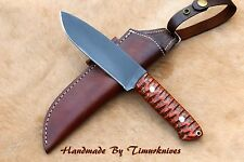 "11"" CUSTOM MADE 1095 H.C STEEL MASTER BUSH CRAFT|CAMP KNIFE|HARDWOOD TIMURKNIVES"