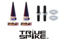 2 TRUE SPIKE NEO CHROME SPIKED LICENSE PLATE WASHERS BOLTS FOR TOYOTA TACOMA