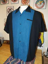 STEADY CUSTOMS Bacardi Silver Rockabilly PANEL Lounge Men's Shirt SIZE 2XL 2X