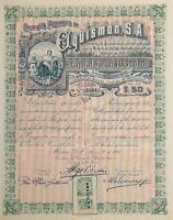 MEXICO P/29a COMPAÑIA PETROLERA AQUISMON SA, 50 acciones de $1.00 de 1916  /1164