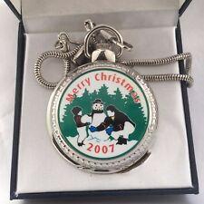 Antique Belacci Merry Christmas  2007 Quartz Pocket Watch Easy to Read Analogue