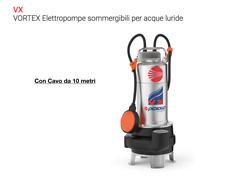 POMPA Sommergibile VORTEX Acque Luride Acciaio 1,5Hp VX m15//35N 10M 220 Pedrollo