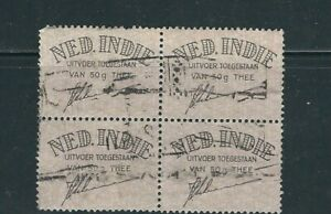 NETHERLAND INDIES circa(?) EXPORT LABEL F/VF USED block of 4