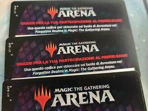 MTGA Magic Arena Code Prerelease Forgotten Realms 6 booster pack MTG 6 Bustine