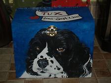 Custom hand painted dog urns pet portrait memorial Wood box Pet URN Spaniel urn
