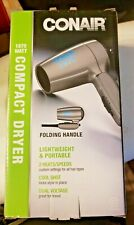 CONAIR 1875 COMPACT DRYER, TRAVEL SIZE, FOLDING HANDLE AND LIGHT, NICE!