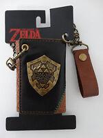 Nintendo Legend Of Zelda Triforce Video Game Metal Badge Chain Wallet Nwt