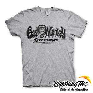 Gas Monkey Garage Official GMG Logo Fast N Loud Heather Grey T-Shirt