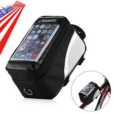 Waterproof Bicycle Cycling Bike Front Frame Pannier Tube Bag For Mobile Phone US