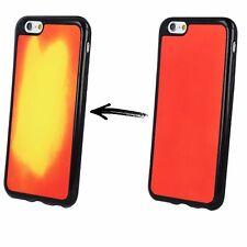 ^ Apple iPhone 5 5S 5G 5SE Rot THERMO Wärme empfindliche Schutz Hülle Etui Case