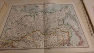 Asiatic Russia Nos 131-132: Map from Harmsworth Universal Atlas (c.1900)