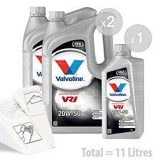 Car Engine Oil Service Kit / Pack 11 LITRES Valvoline VR1 Racing 20w-50 11L