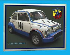 FIAT 600 ABARTH -  TARGA IN METALLO -  RIPROD. D'EPOCA