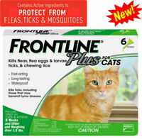 6 Doses Frontline Plus For Cats Flea&tick Remedy Tick Prevention Health Care