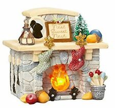 HEART OF CHRISTMAS~SANTA'S LIGHTED FIREPLACE FIGURINE~4057650
