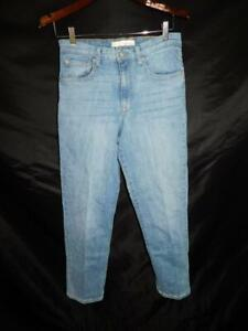 Ella Moss 6 28 High Waist Straight Leg Blue Jeans Light Wash Denim 6/28 Junior