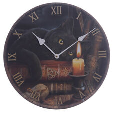Lisa Parker Magical Witching Hour Cat Novelty Wall Clock 15 CKP 79
