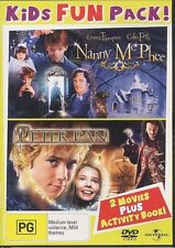 Kids Fun Pack 2-disc DVD Nanny McPhee / Peter Pan NEW 2-move