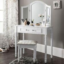 Sienna | White Dressing Table, Mirror & Stool Set Dresser