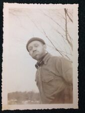 B&W Photo Lumberjack Looking Man Waterville Maine
