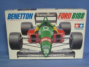 Tamiya Benetton FORD B188 Grand Prix Model Car Kit 1/20 Scale, SEALED PARTS BAGS