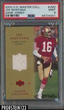 2000 Upper Deck Master Joe Montana HOF Jersey 6/50 San Francisco 49ers PSA 9