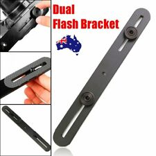 Universal Dual Flash Bracket Mount Holder for Tripod Stand DSLR SLR Camera AU