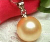 HOT AAA++16mm SOUTH SEA Shell Pearl Pendant 14K white Gold mark