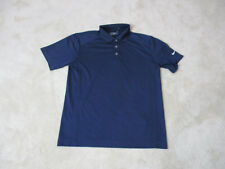 Nike Golf Tour Performance Polo Shirt Adult Medium Navy Blue Golfer Rugby Mens