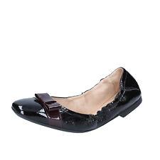 Damen schuhe BALLY 41 EU ballerinas schwarz burgund lack BZ993-H
