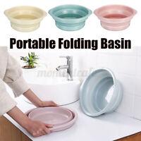 Folding Basin Laundry Tube Clothes Washing Vegatable Fruit Clean Camping Home