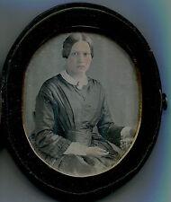 Daguerréotype rehaussé - Coffret - Femme