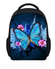 "12"" Blue Butterfly Preschool Backpack Bag Toddler Girl Small Bookbags Schoolbag"