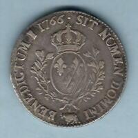 France. 1766 Louis XV - Ecu d'argent.. MM-Cow (Pau)..  aVF