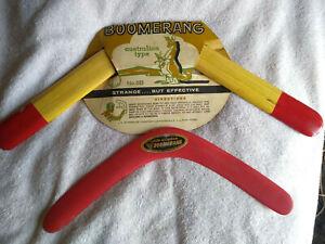 Vintage 1950's Stemmler Australian Type Boomerang No.5B Original Package + 1