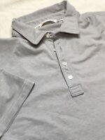 Travis Mathew Mens Short Sleeve Golf Polo Shirt Heather Grey Size Medium