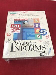 Autographed by WordPerfect Team Informs Version 1.0 Software NEW SEALED RARE PRO