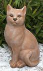 Steinfigur Katze groß Terrakotta Steinguss frostfest Gartenfigur Gartendeko