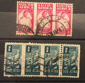 SOUTH AFRICA SG97-98 F/USED STRIPS....